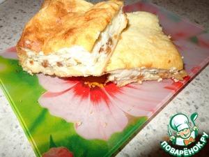Рецепт Пирог из слоеного теста с творогом и сгущенным молоком