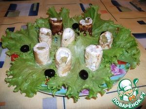 Роллы из омлета вкусный рецепт приготовления с фотографиями