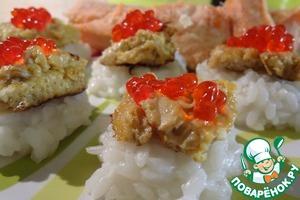 Рецепт Японский омлет на рисовой подушке