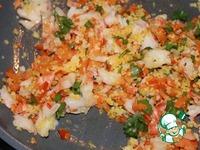 """Салат с креветками, овощами и кускусом """"Вещмешок"""" ингредиенты"""