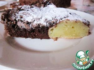 Рецепт Шоколадный пирог с творожно-манными шариками