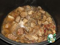 Гречка по-купечески с мясом и грибами ингредиенты