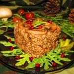 Гречка по-купечески с мясом и грибами