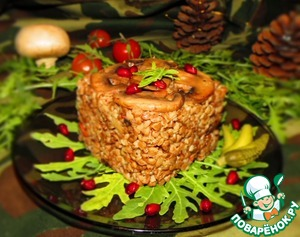 Рецепт Гречка по-купечески с мясом и грибами