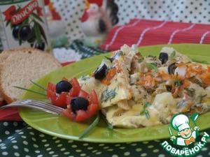 Рецепт Омлет с цветной капустой по-средиземноморски