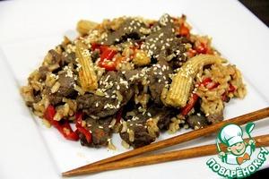 Рецепт Говядина по-китайски с рисом