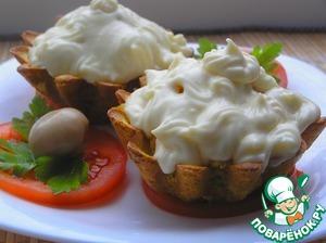 Рецепт Рисовые корзиночки со свининой под сырным соусом