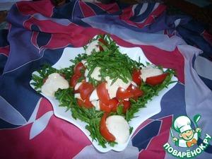 Рецепт Салат из шпината и помидоров