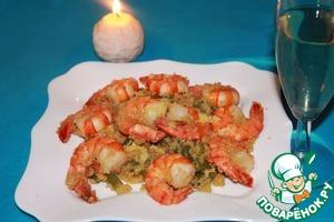 Рецепт Теплый салат из киноа с креветками