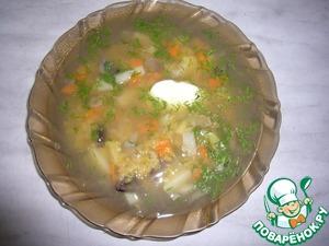 Рецепт Суп из чечевицы с грибами в мультиварке