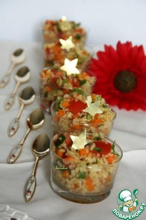 """Рецепт Салат из булгура с тыквой, морковью и сельдереем """"У солдата выходной..."""""""