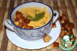 Рецепт Суп из сливочного сыра с грибами