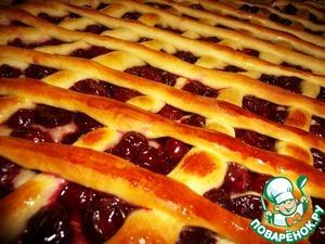 Рецепт Вишневый пирог-плетенка