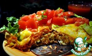 Рецепт Пирог из чечевицы, мяса и овощей