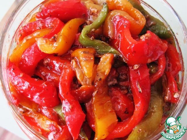 Перец фаршированный холодная закуска рецепт с фото