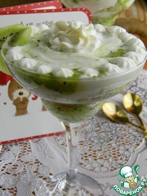 """Рецепт Десерт """"Ромовая баба с киви"""""""