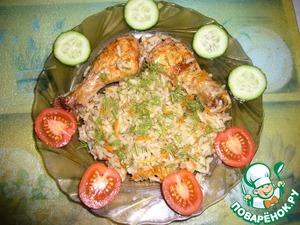 курица целиком в духовке рецепты с рисом