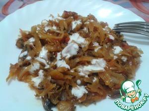Рецепт Овощная закуска с грибами
