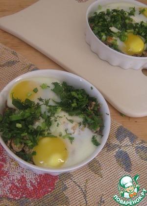 Рецепт Завтрак для любимого мужа (ореховый рис под яйцом)