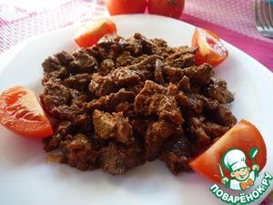 Рецепт Печень куриная в сметанно-томатном соусе
