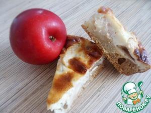 Рецепт Яблочный пирог с сырным суфле