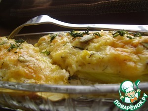 Рецепт Цукини фаршированные булгуром и сыром