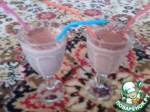 """Рецепт Молочный коктейль """"Шоколадный шок"""""""