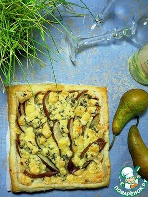 Рецепт Пирог с грушами и сыром