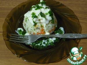Рецепт Ризотто с грибами и курицей в сметанном соусе