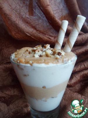 Рецепт Карамельно-ванильный десерт на манной крупе