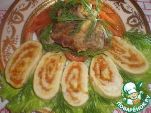 Рецепт Нежнейшее мясо молодого барашка и рисовый рулет ''Победа''