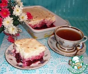 Рецепт Рисовый десерт с вишней и безе