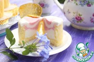 Рецепт Клубничные пирожные в бисквитном стаканчике