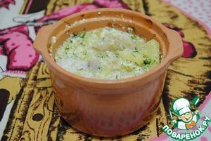 Рецепт Рыба с картофелем в горшочке