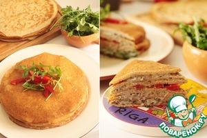 Рецепт Гречневый блинный пирог