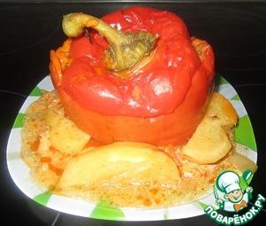 Рецепт Гигантский болгарский перец, фаршированный мясом с гречкой