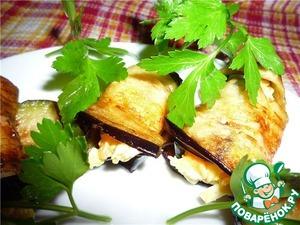 Рецепт Рулеты из баклажан с сыром и морковью