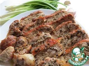 Рецепт Запеченная свинина по-быстрому «Лимонно-тимьянная»