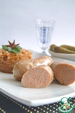 Рецепт Домашние свиные колбаски с тушеной капустой