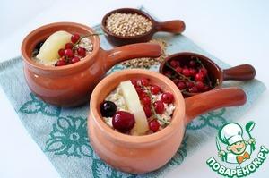 Рецепт Запеканка с зеленой гречкой и ананасами
