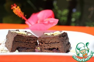 Рецепт Шоколадное пирожное с черникой