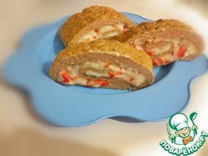 Рецепт Закусочный рулет с манно-творожным кремом