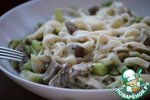Рецепт Домашняя паста с брокколи и телячьим языком