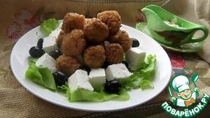 Рецепт Вегетарианский салат с рисовыми шариками