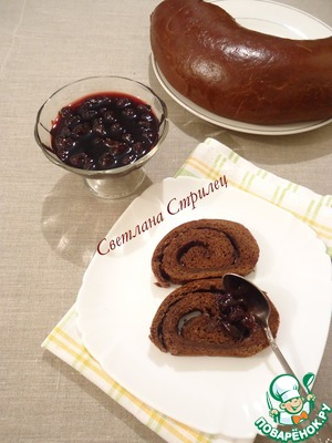 Рецепт Шоколадный хлеб с прослойкой