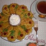 Кукурузные лепешки с Кус-Кусом, зеленью и сыром