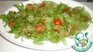 Рецепт Салат с семгой и рукколой
