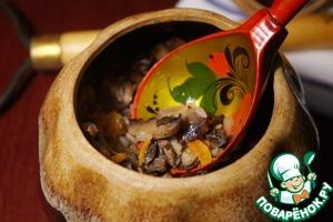 Рецепт Гречневая каша в горшочке