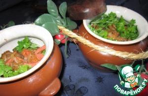 Рецепт Гречка с грибами и ветчиной
