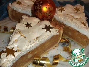 "Рецепт Пирог-торт ""Яблоки под снегом"""